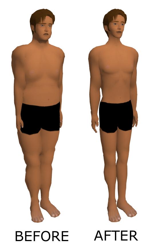 kaalulanguse rasva muutus