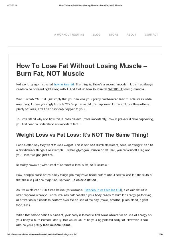 burn fat pdf